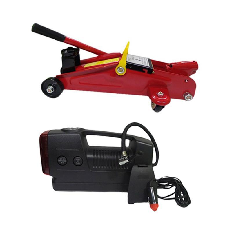 harga 1PRICE Paket Emergency - H32004 Floor Jack Dongkrak + H18019 Air Compressor Blibli.com