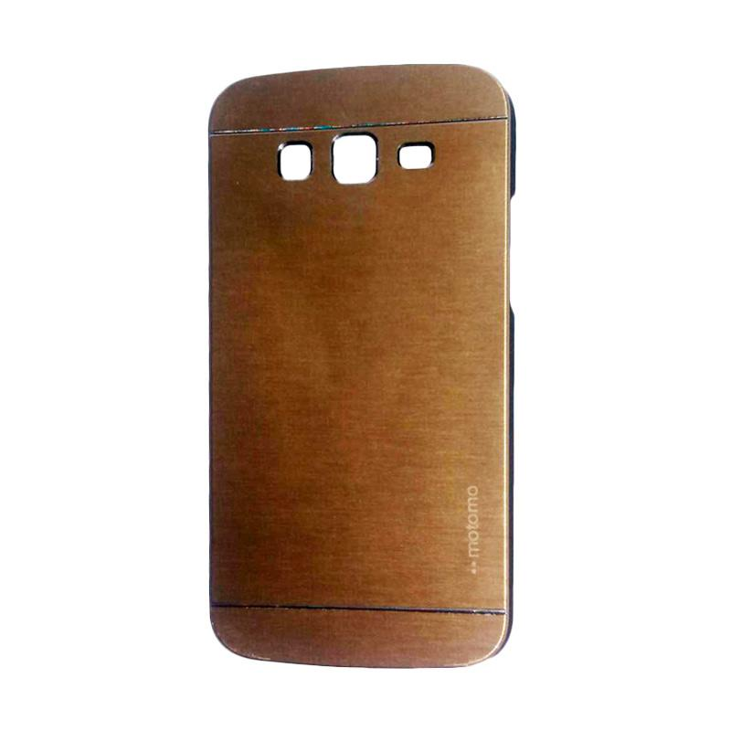 Motomo Metal Hardcase Backcase Casing for Samsung Galaxy Grand or I9082 - Gold