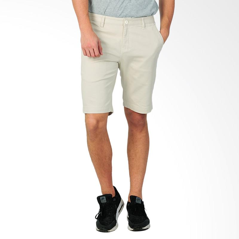 SJO & SIMPAPLY New Maxwell Men's Shorts Celana Pendek Pria - Cream