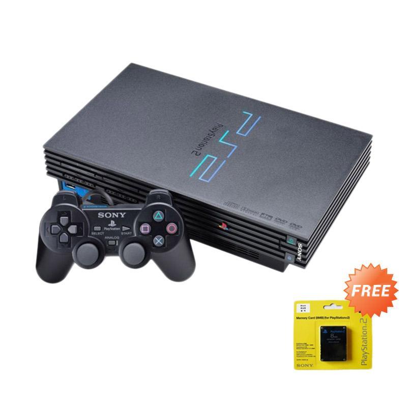 Sony Playstation 2 Fat Series 18 [Ref/HDD Internal 80GB] + Free 100 Games +  Memory Card
