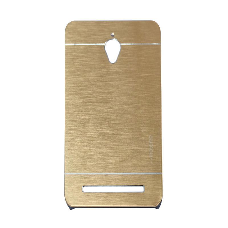 Motomo Metal Backcase Hardcase Casing for Asus Zenfone Go ZC500TG 5.0 Inch - Gold