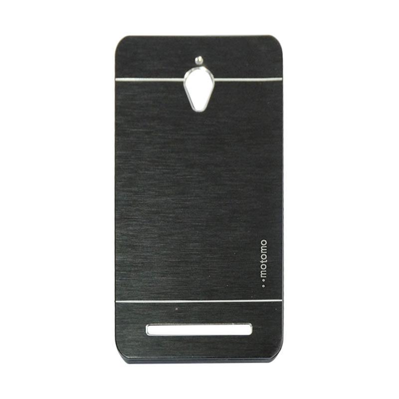 Motomo Metal Hardcase Backcase Casing for Asus Zenfone Go ZC500TG 5.0 Inch - Black