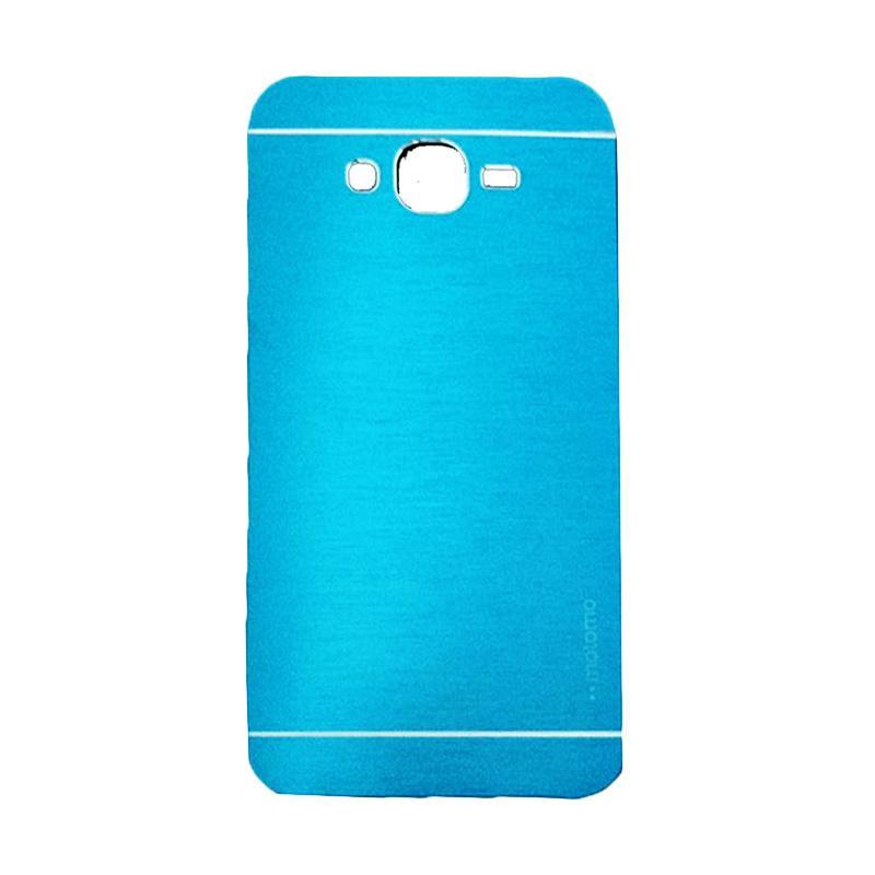 Motomo Metal Hardcase Backcase Casing for Samsung Galaxy E7 or E700 - Sky Blue