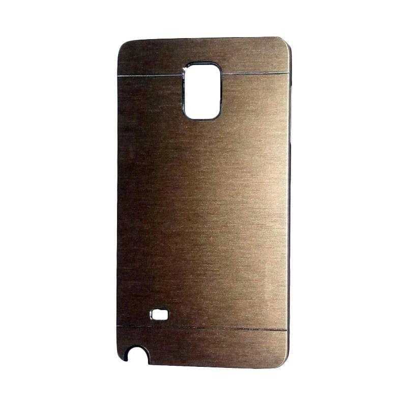 Motomo Metal Hardcase Backcase Casing for Samsung Galaxy Note 4 or N910 - Gold