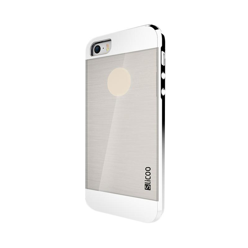 Slicoo Clear Back Side Cover Hardcase Casing for Apple Iphone 6 Plus - Silver