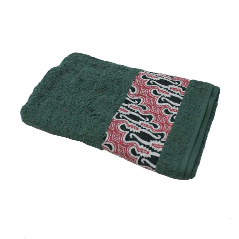 Terry Palmer Premium Motif Batik Barong Handuk Mandi - Hijau [70 x 140 cm]