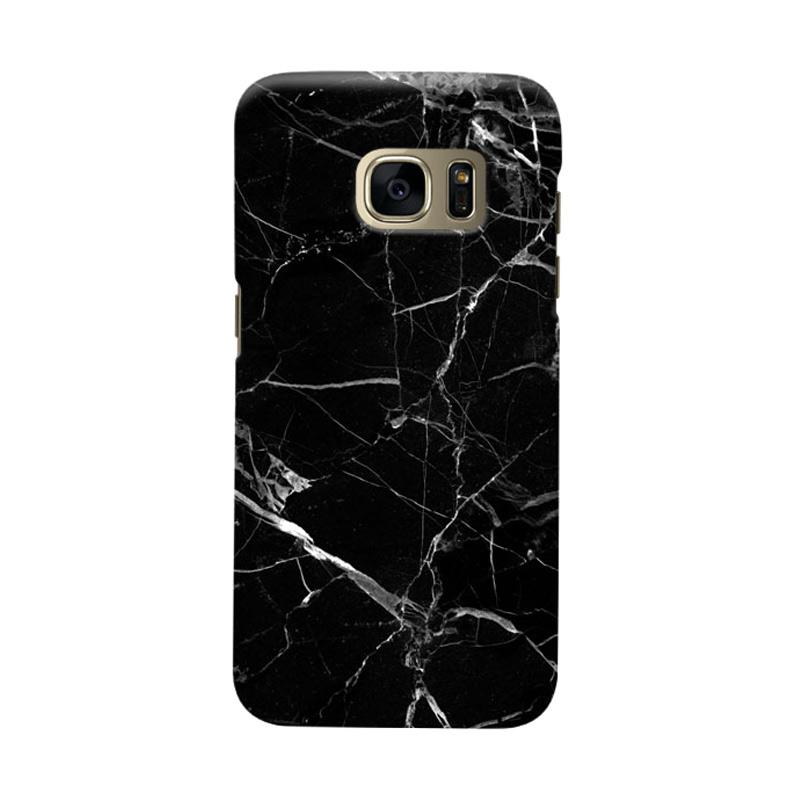 Indocustomcase Black Marble Cover Casing for Samsung Galaxy S6