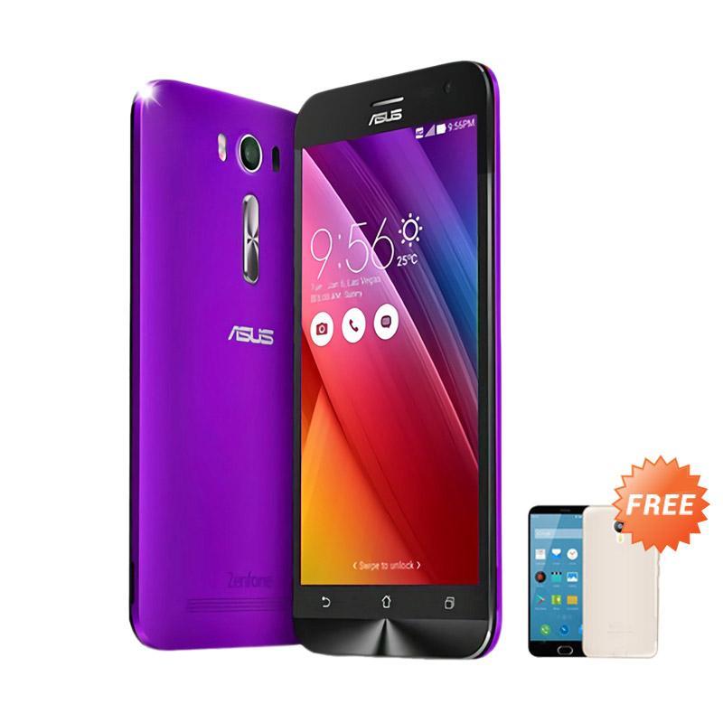 Ultrathin Aircase Casing for Zenfone 2 ZE500KL - Purple Clear + Free Ultra Thin
