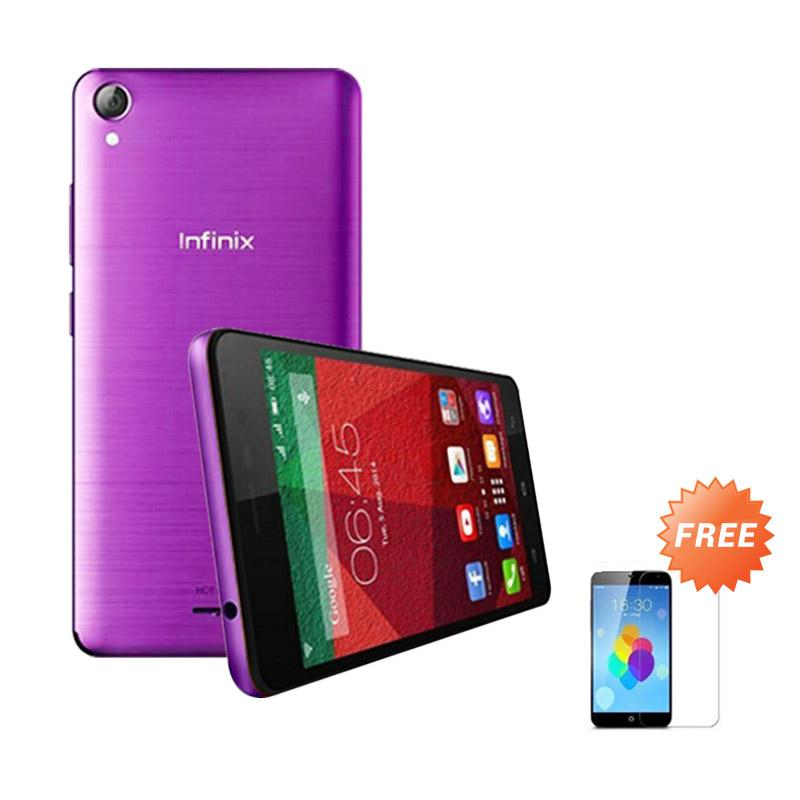 Ultrathin Casing for infinix Hot Note - Purple Clear + Free Tempered Glass