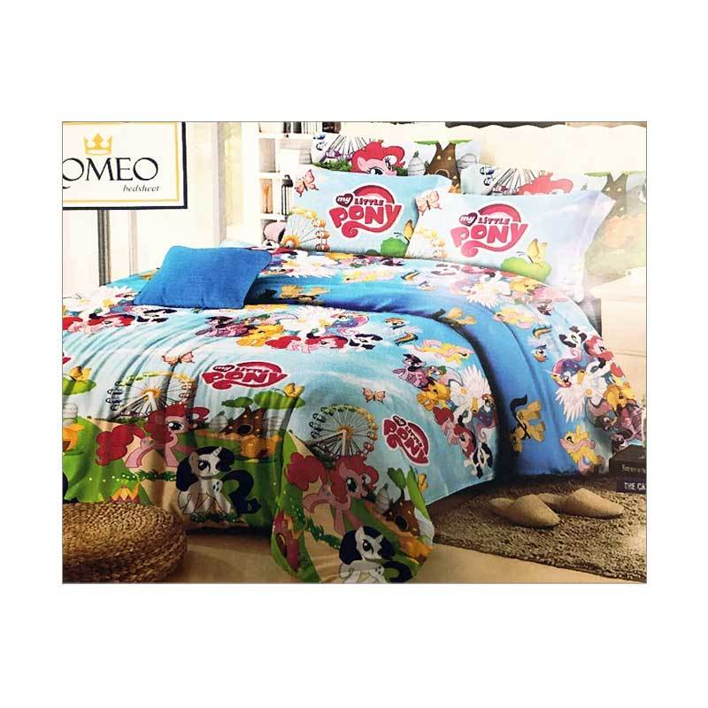 Best Furniture Romeo Little Pony Katun Import Set Sprei Anak - Biru [120 x 200 cm]