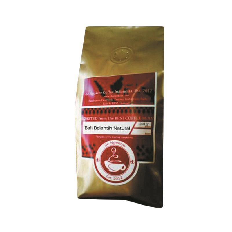 Ngokow Coffee Speciality Arabica Bali Belantih Natural Coffee Bean Bubuk [200 g]