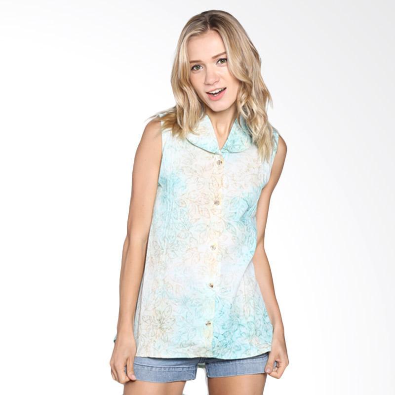Batik Pria Tampan Wbltl-04081648c-Ice Women Sleeveless Shirt - Ice Blue