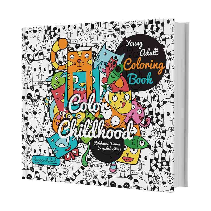 Huta Paint Young Adult Coloring Book Color Of Childhood Buku Arts