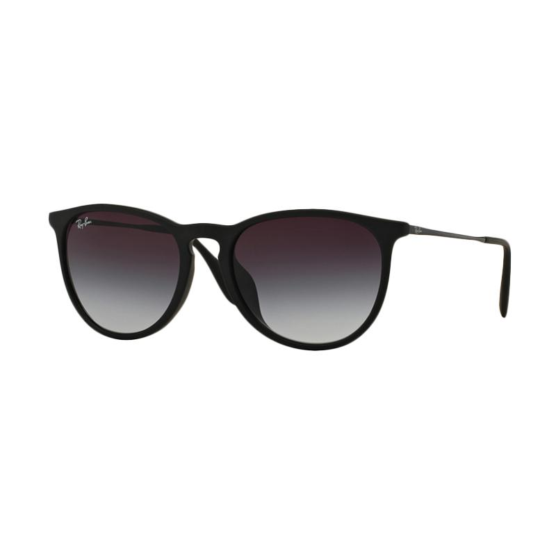 Ray-Ban RB4171 622/8G Sunglass - Black Rubber [Size 54/Black Frame/Polar Purple Lenses]