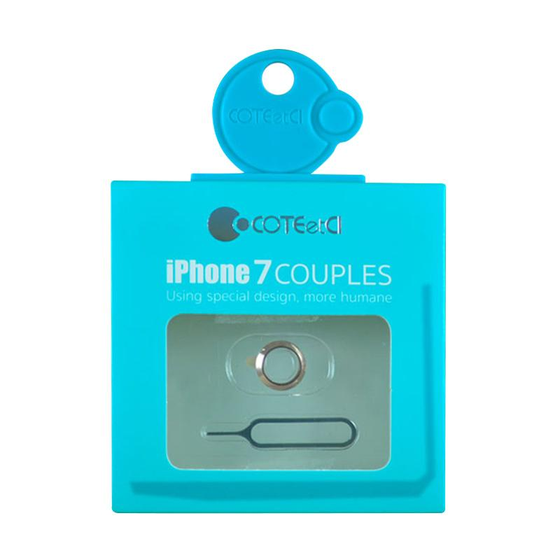 Coteetci Couples Lens Cover for iPhone 7 - Rose Gold [Ring Camera & Card Eject]