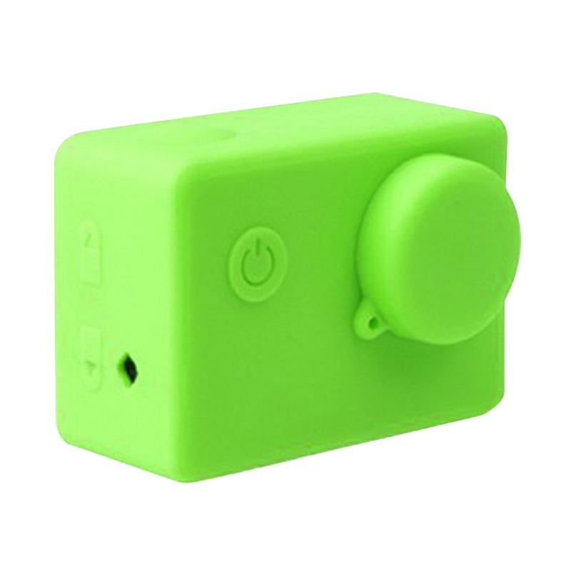 Brica Silicone Case and Lens Cap for Action Camera Brica B-PRO Alpha Edition AE2 - Hijau