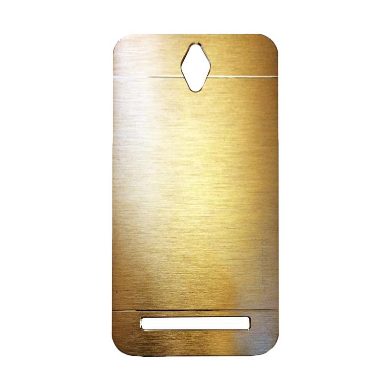 Motomo Metal Backcase Hardcase Casing for Asus Zenfone Go ZC451TG 4.5 Inch - Gold