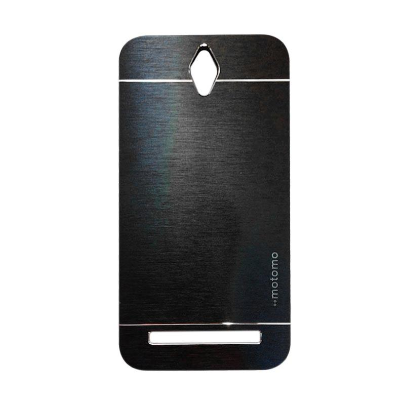 Motomo Metal Hardcase Backcase Casing for Asus Zenfone Go ZC451TG 4.5 Inch - Black