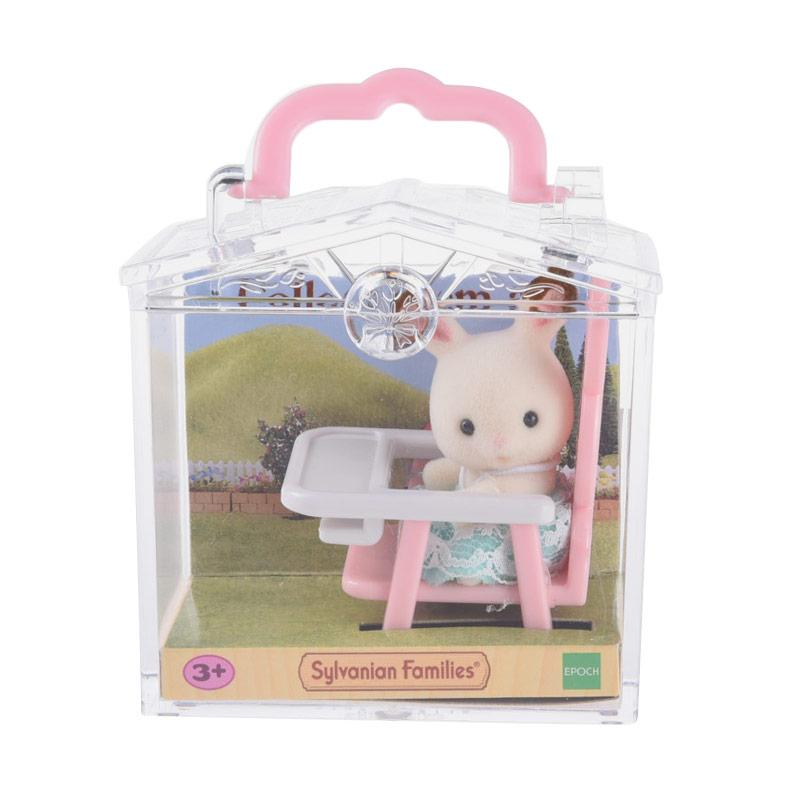 Sylvanian Families Baby Carry Case Rabbit on Baby Chair
