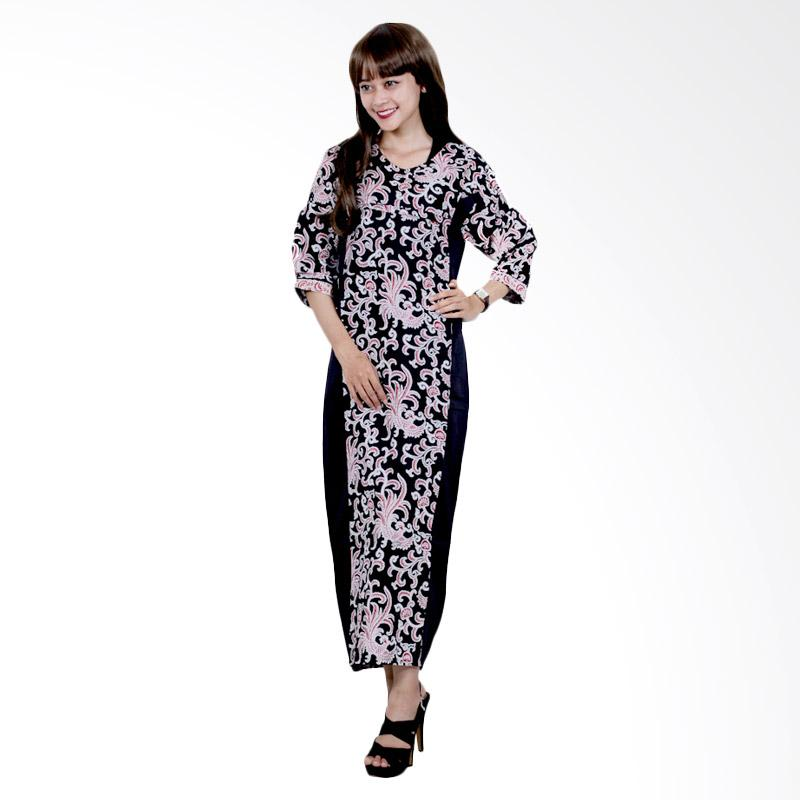 Batik Putri Ayu Solo D84 Katun Velvet Dress Batik - Hitam