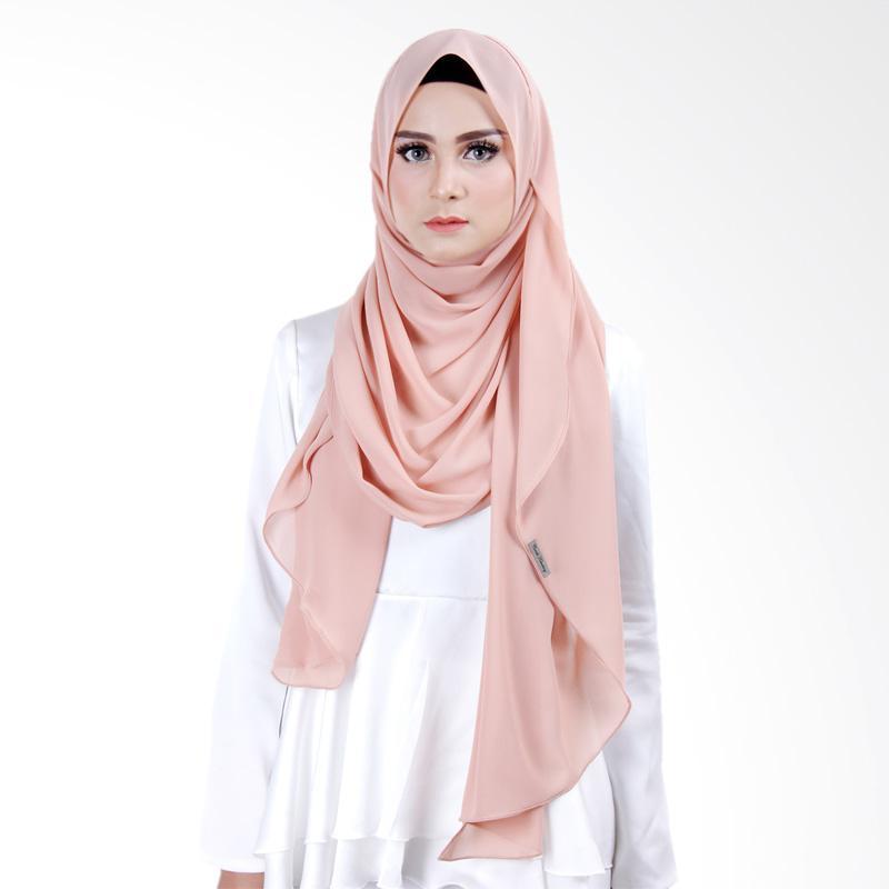 Cantik Kerudung Scarlett Slip In Instant Hijab - Brownie Choco