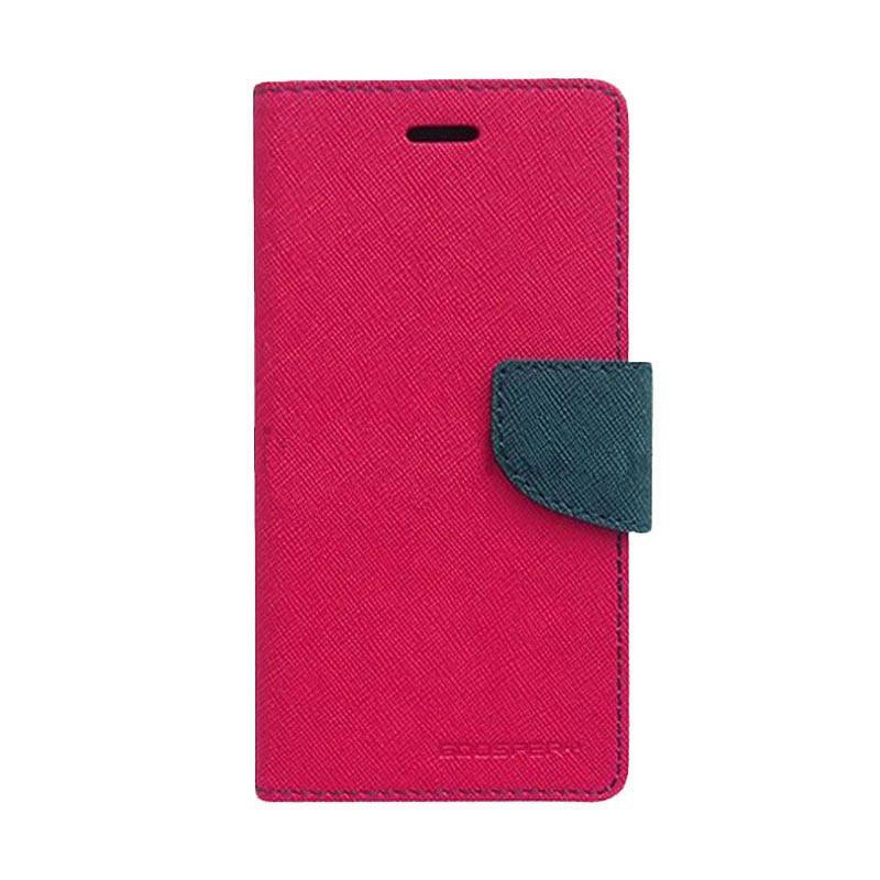 Mercury Fancy Diary Casing for Asus Zenfone 2 ZE551ML - Magenta Biru Laut