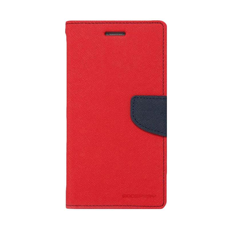Mercury Fancy Diary Casing for Asus Zenfone GO ZC500TG - Merah Biru Laut