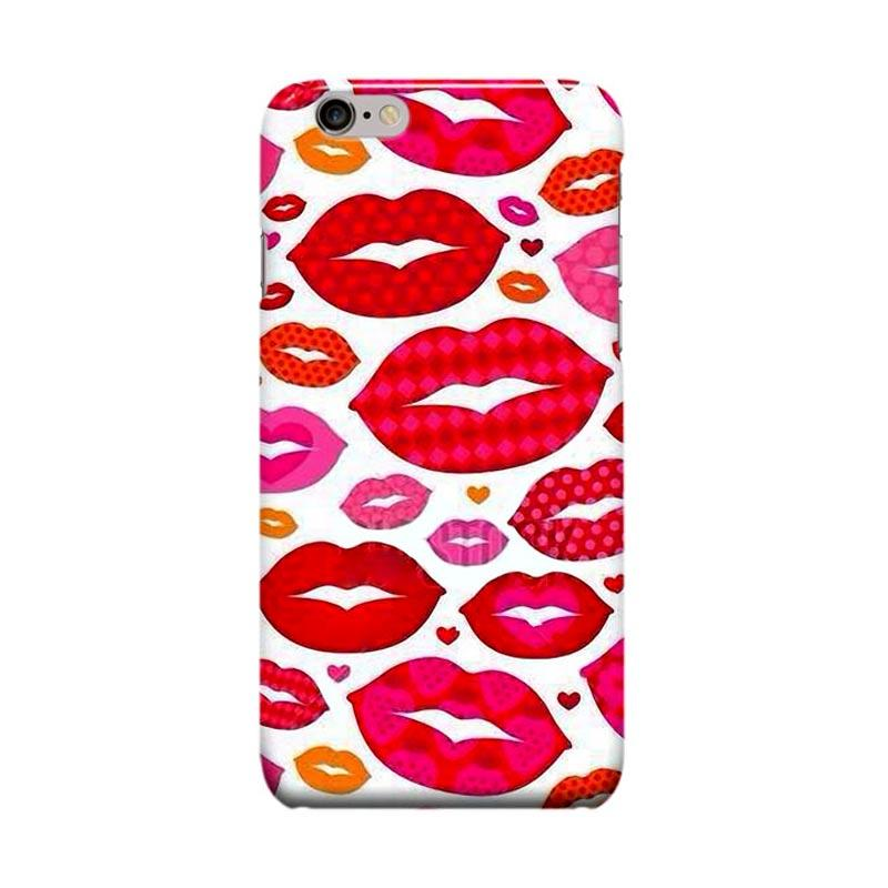 Indocustomcase Lips Casing for Apple iPhone 6 Plus or 6S Plus