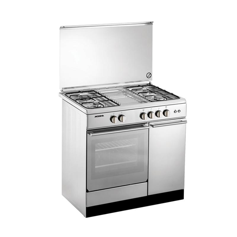 Modena FC7943S Kompor Gas with Oven Freestanding [4 Tungku/ 90 cm/ Stainless Steel]