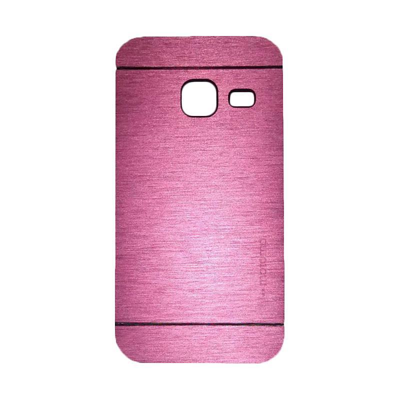 Motomo Metal Hardcase Backcase Casing for Samsung Galaxy J1 Mini or J103 - Pink