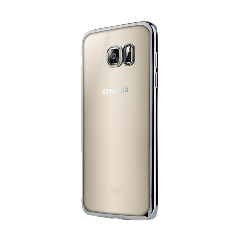 OEM Ultrathin TPU Shining Chrome Casing for Samsung Galaxy S7 Edge - Silver