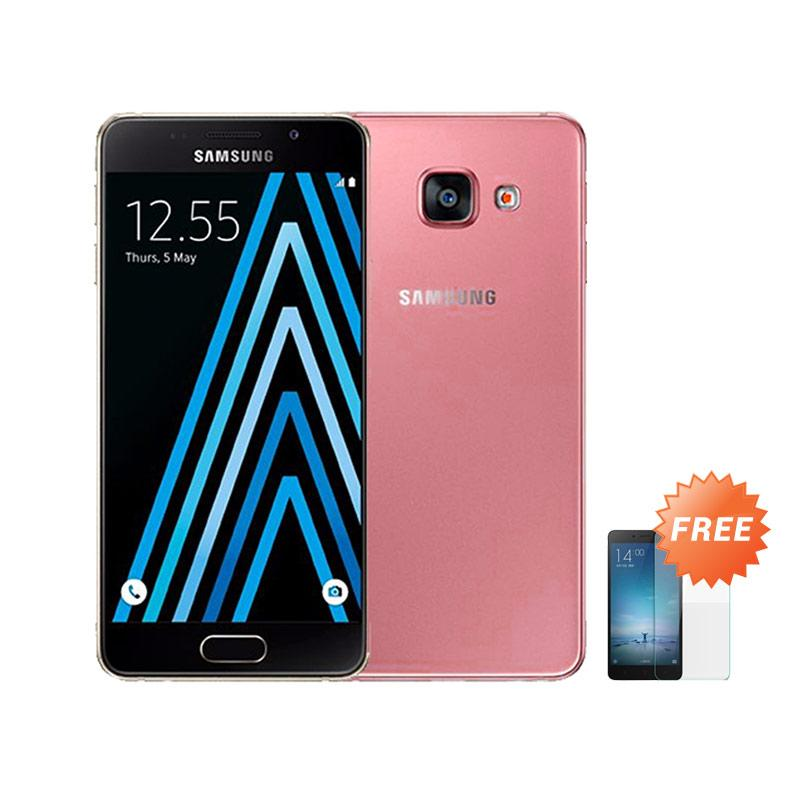 Ultrathin Casing for Samsung Galaxy A3 2016 SM-A310F - Red + Free Tempered Glass