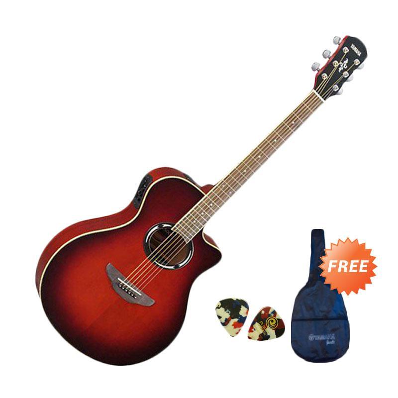 harga Yamaha APX 500II Gitar Akustik Elektrik - Dark Red Burst + Free Softcase + Pick [2 pcs] Blibli.com
