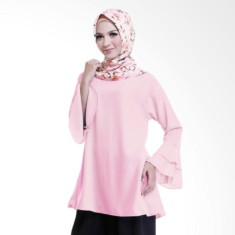 Cotton Bee Quincy Ruffle Sleeves Blouse Atasan Wanita - Dusty Pink