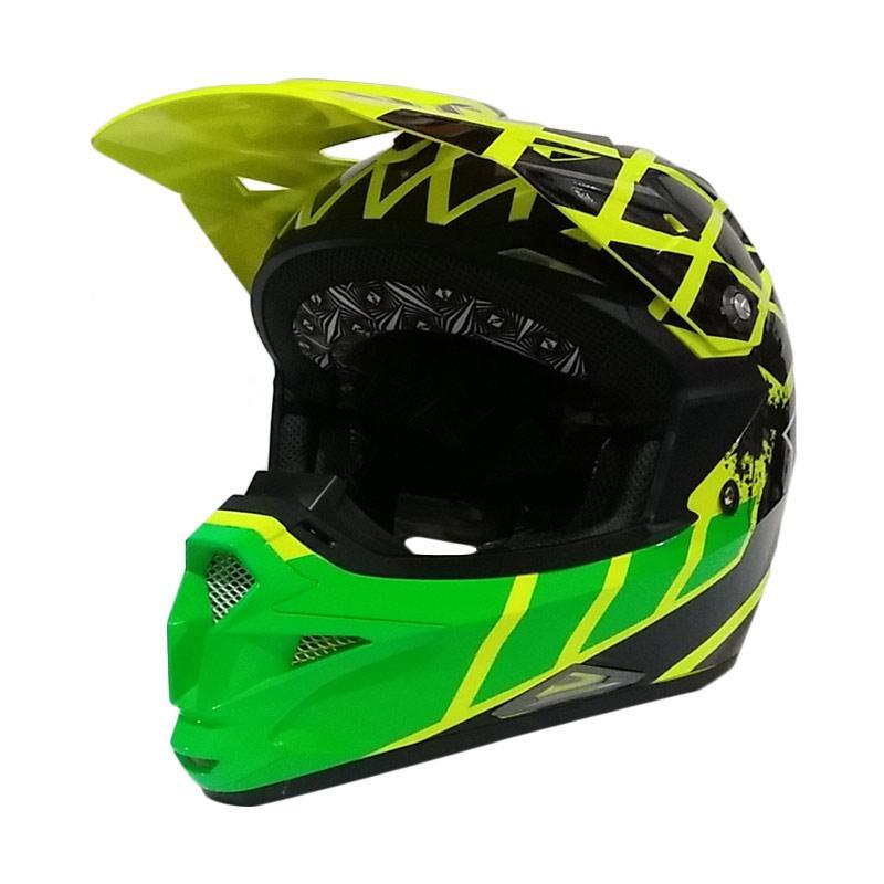 harga KYT Cross Over Net Cross Helm Motocross - Yellow Flou/Black/Green Flou Blibli.com