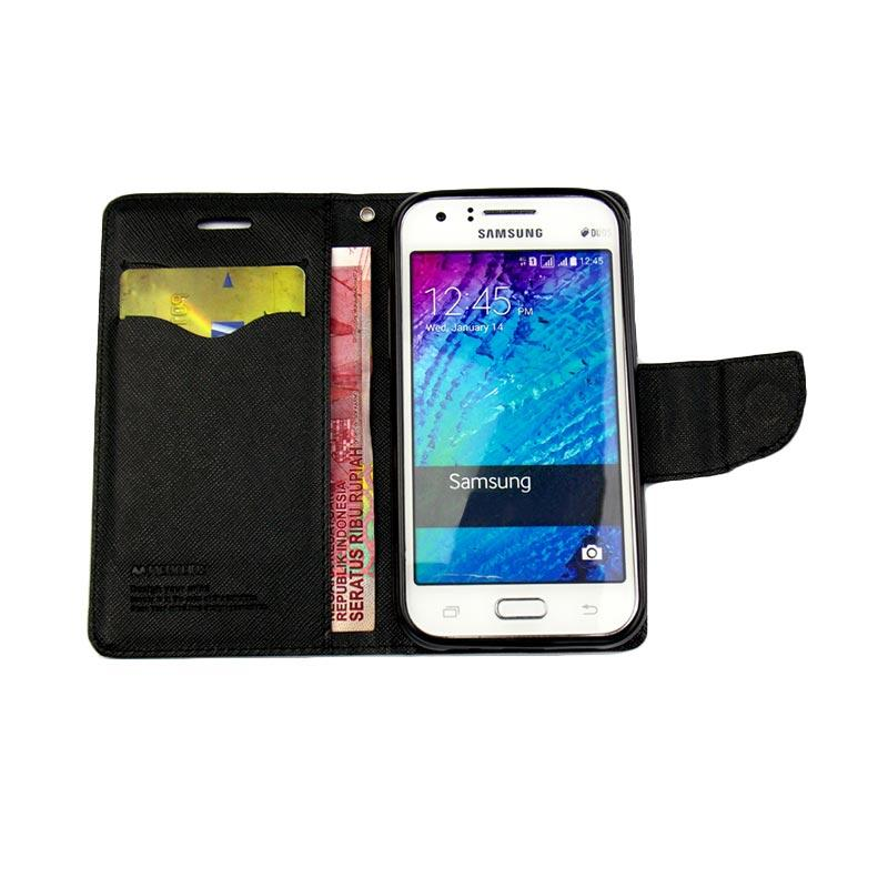 Mercury Fancy Diary Casing for Xiaomi Redmi Note 3 - Hijau Tua Biru laut