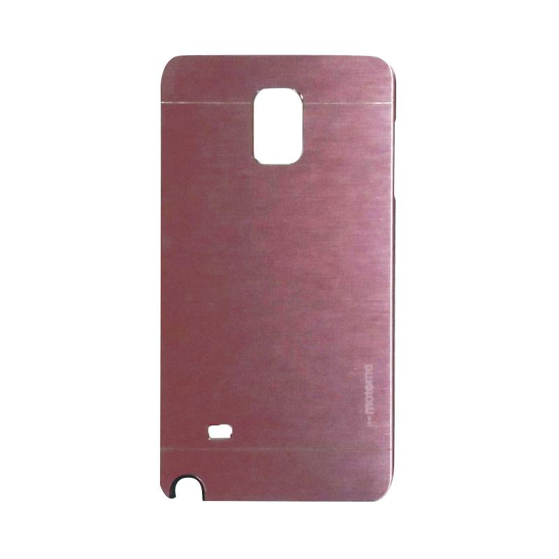 Motomo Metal Hardcase Backcase Casing for Samsung Galaxy Note 4 or N910 - Pink