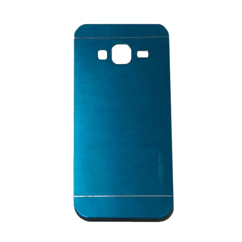 Motomo Metal Hardcase Backcase Casing for Samsung Galaxy J3 2016 or J320 - Sky Blue