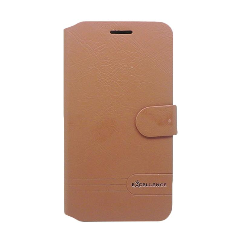 Excellence Flip Cover Dragonite Casing for Asus Zenfone 3 ZE552KL - Brown