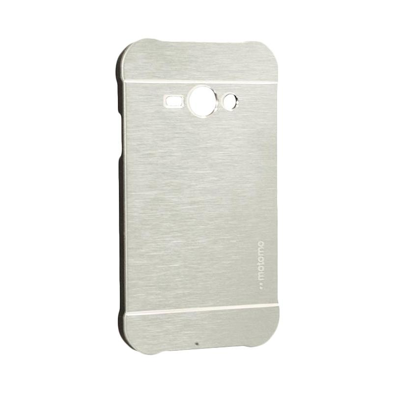 Motomo Metal Hardcase Backcase Casing for Samsung Galaxy J1 Ace or J110 - Silver