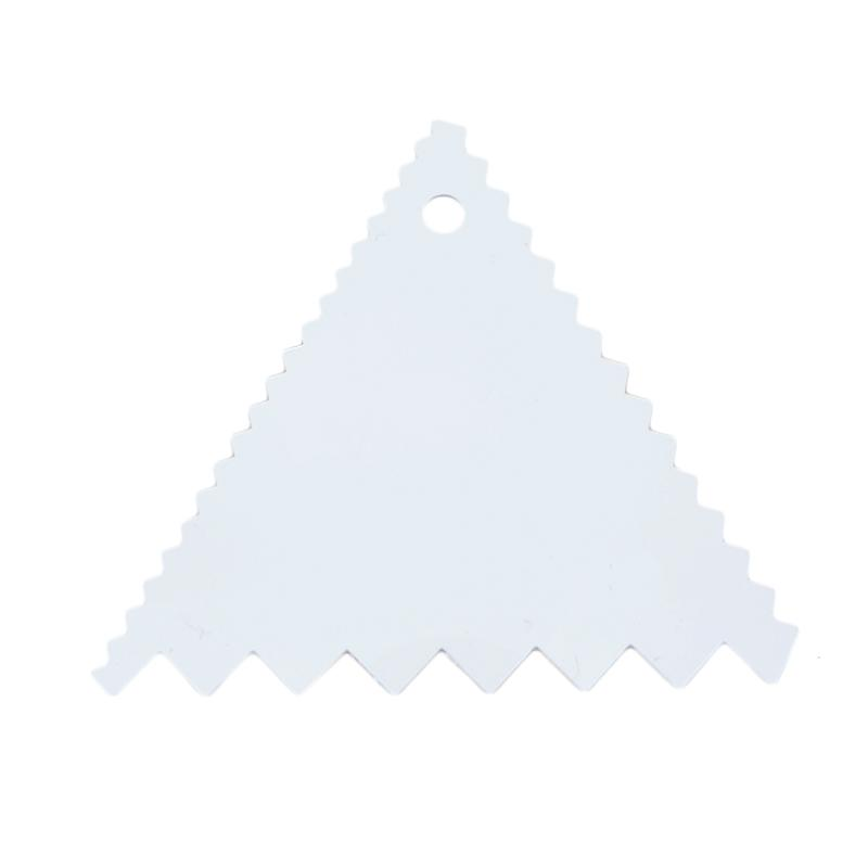 San Neng Triangle Serrated Cutter & Scraper Flexible Perata Gerigi - White