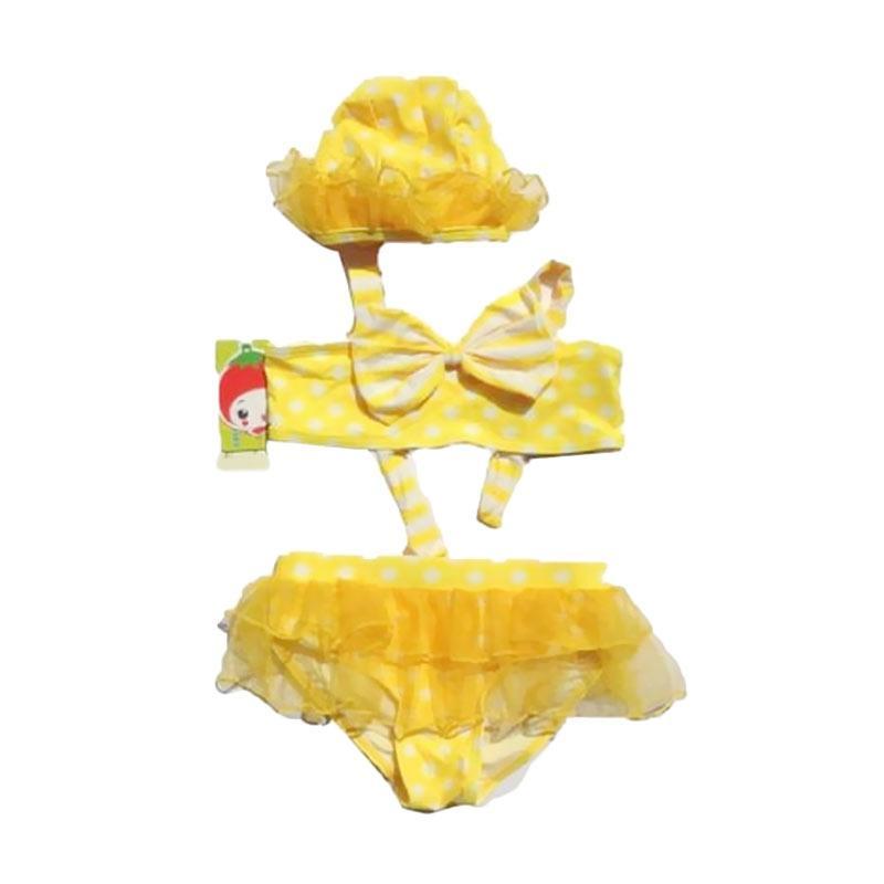 Chloebaby Shop SwimSuit Glamour Tutu Baju Renang Anak - Yellow