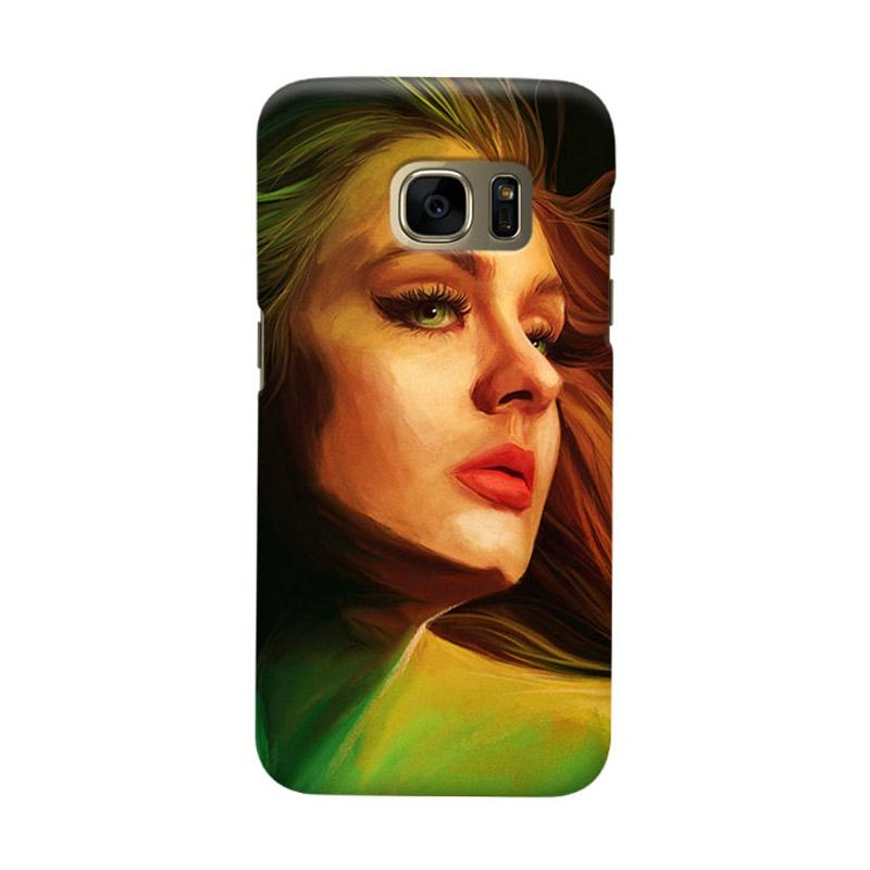 Indocustomcase Adele Cover Casing for Samsung Galaxy S6 Edge