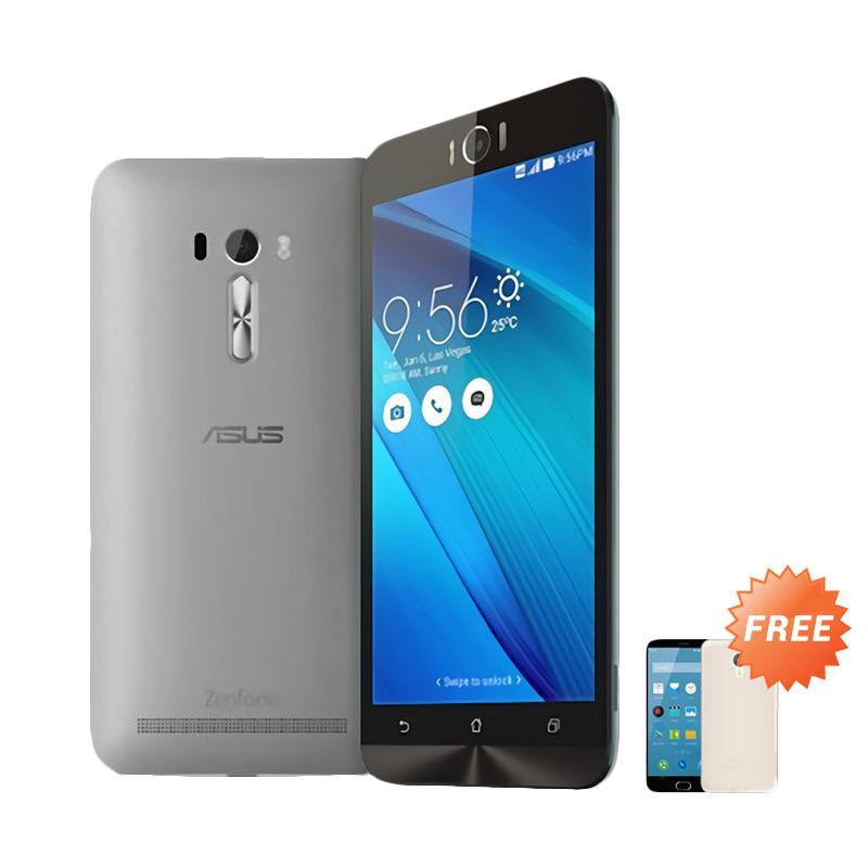 Ultrathin Aircase Casing for Asus Zenfone Laser 5.5 Inch - Black Clear + Free Ultra Thin