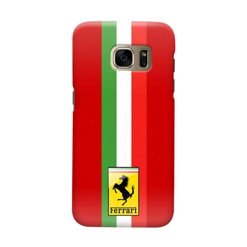 Indocustomcase Ferarri Cover Casing for Samsung Galaxy S6 Edge