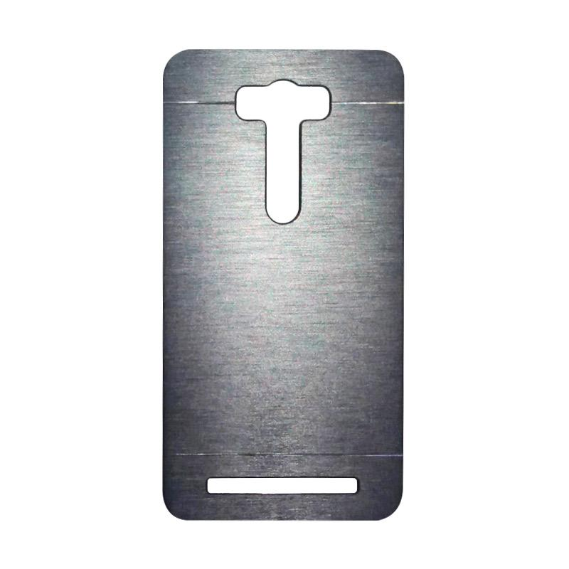 Motomo Metal Hardcase Casing for Asus Zenfone 2 Laser ZE550KL 5.5 Inch - Silver