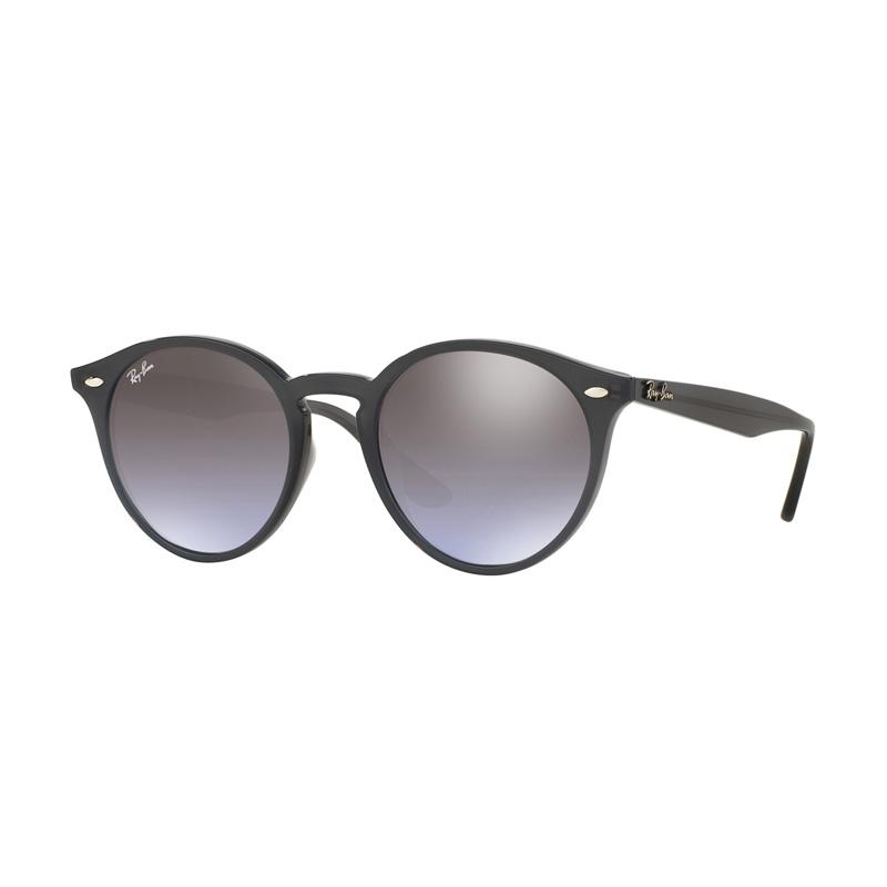 Ray-Ban RB2180F-623094 Sunglasses - Opal Grey Violet Grad Brown Mir Silver [Size 49]