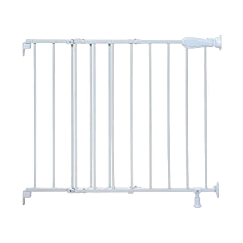 Summer Infant Top of Stairs Simple to Secure Metal Gate Pagar Pengaman Bayi - White