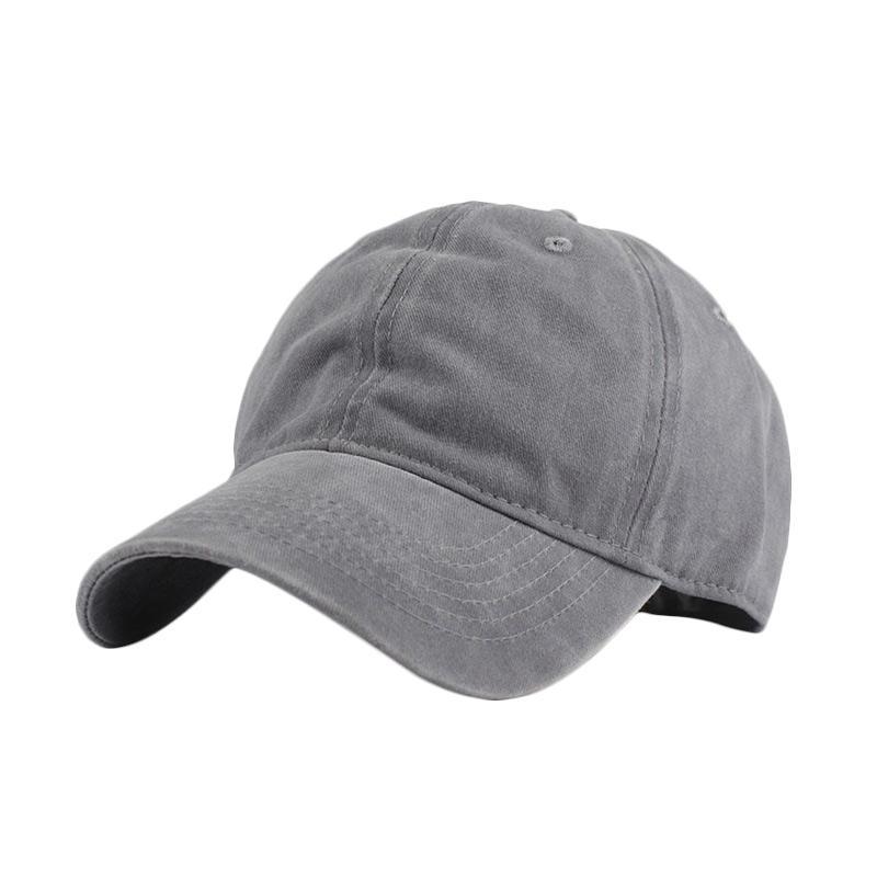 harga Ormano Snapback Baseball Cap Korean Hip Hop Casual Polos Denim Topi - Abu Muda Blibli