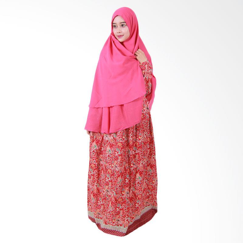 Batik Putri Ayu Solo Gamis Syari GH3 Dress Muslim - Pink